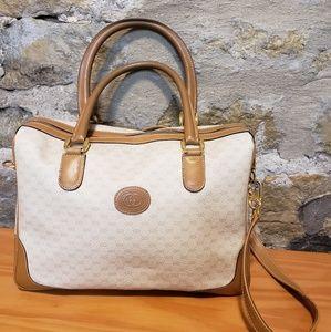 Gucci vintage white and tan crossbody bag
